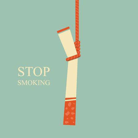unhealthy living: Hanged Burning Cigarette