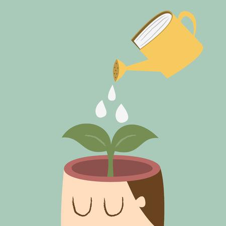 educacion ambiental: �rbol que crece de una cabeza