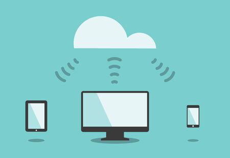 conectividade: Cloud computing, conceito conectividade de tecnologia