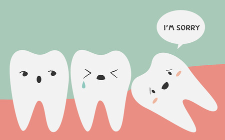 tooth pain: impacted tooth illustration Illustration