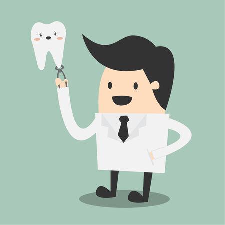 bata de laboratorio: bata de laboratorio al dentista que llevaba masculino feliz Vectores
