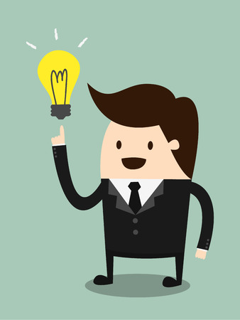 Businessman get the idea Vector
