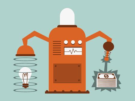 idea is money concept, vector illustration