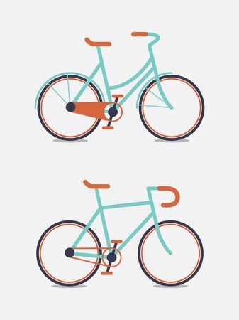 bike riding: retro bike vector illustration Illustration