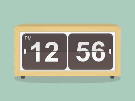 despertador: Reloj retro Vectores