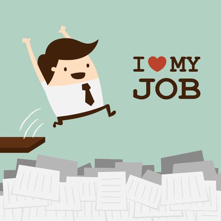 glücklich: Alles Gute zum Geschäftsmann Illustration