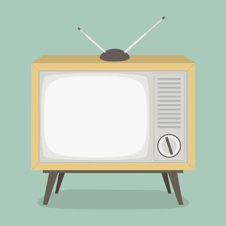 Télévision Vintage Vecteurs