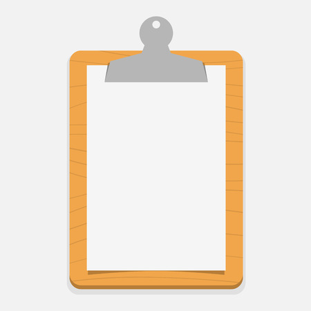 unfinished: Blank wooden clipboard
