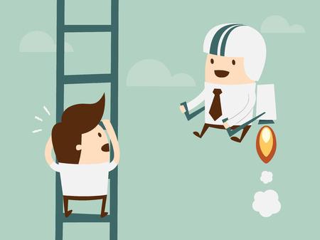 concurrentie in het bedrijfsleven concept stock vector
