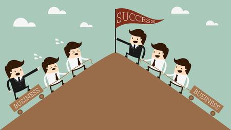 リーダーシップの概念図  イラスト・ベクター素材