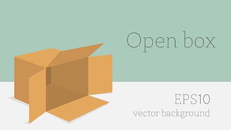 packer: Open box Illustration