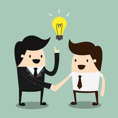 dandose la mano: Estrechar la mano de gente de negocios