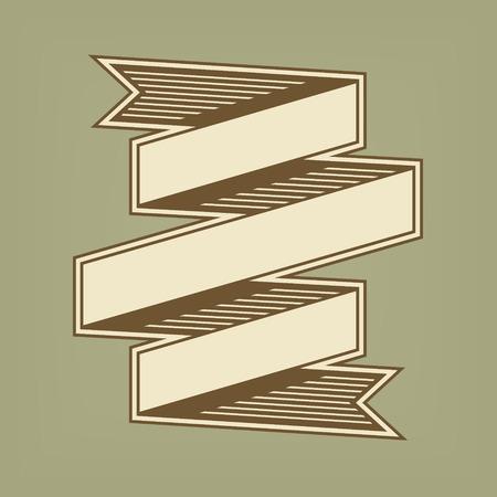 bandiera del nastro d'epoca Vettoriali