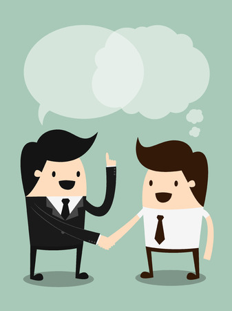 ビジネスの手を振って