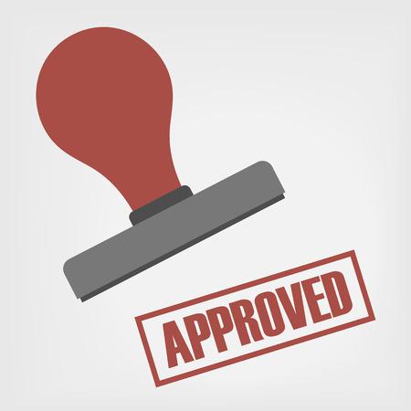 rubber stamp: Approved stamp illustration Illustration