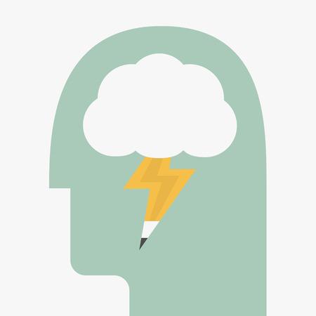 brain storming: Brain storming illustration
