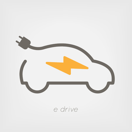 Electric car  illustration Illustration