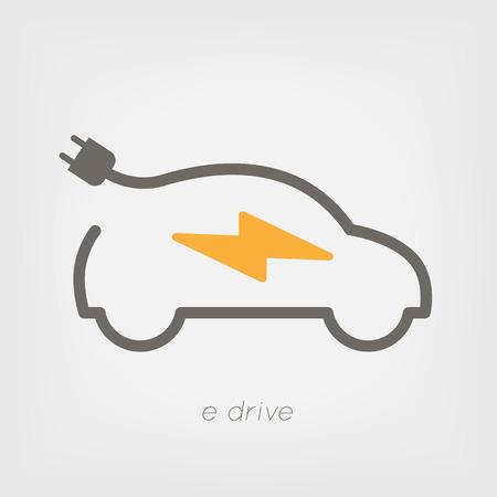 Elektryczny samochód ilustracji Ilustracja