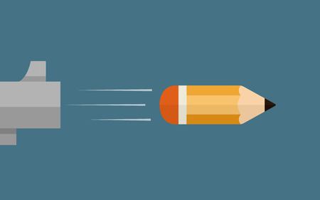 pencil symbol: a creative bullet, vector illustration