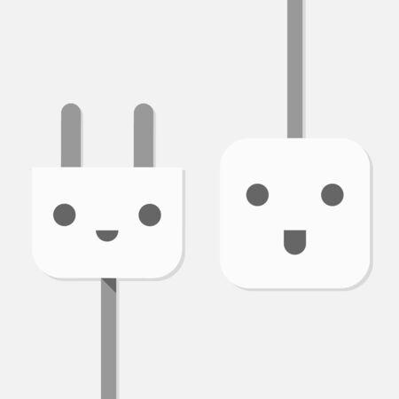 plug electric: Vector elegante enchufe el�ctrico, Conectar