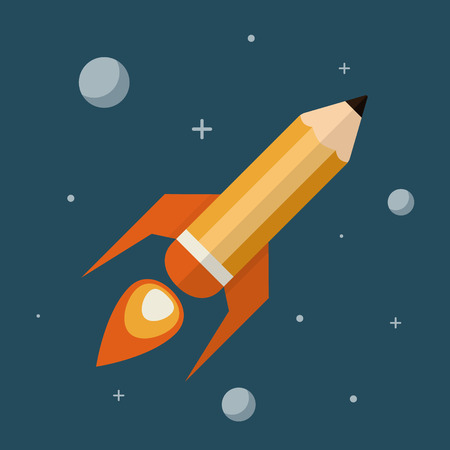 pencil symbol: Creative Space   illustration