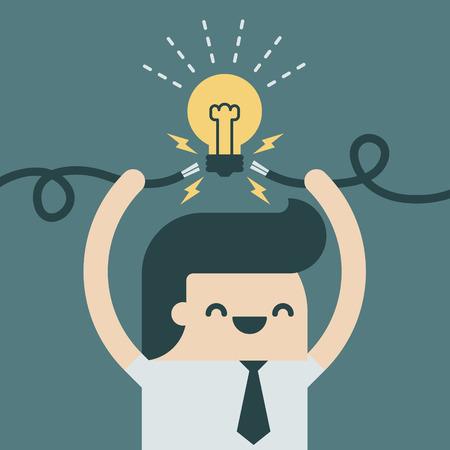 Biznesmen wzbudzić nowy pomysł