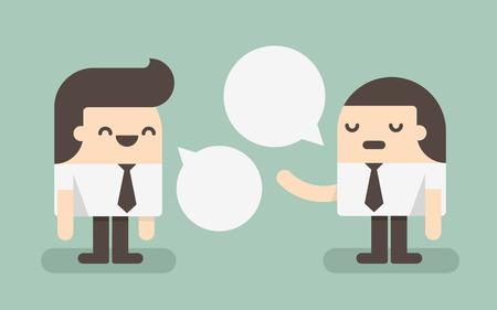 personas comunicandose: Dos empresarios discutiendo Vectores