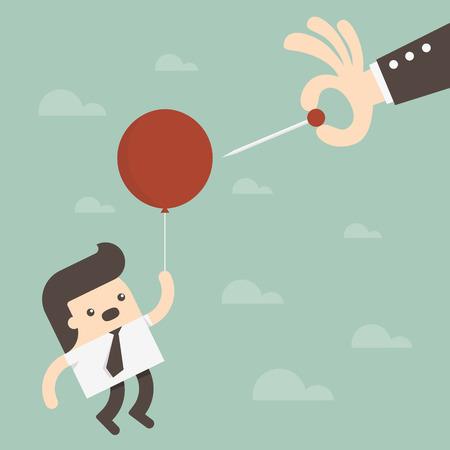 Bubble ilustracji gospodarczy Ilustracja
