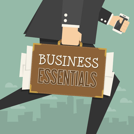 business concept: businessman working  conceptual business illustration  Illustration