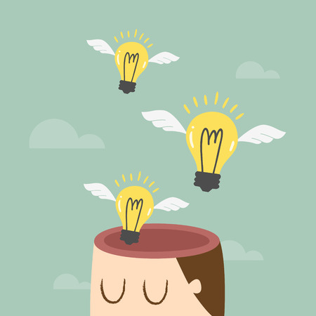 Gedanken-, Ideen-Konzept Illustration