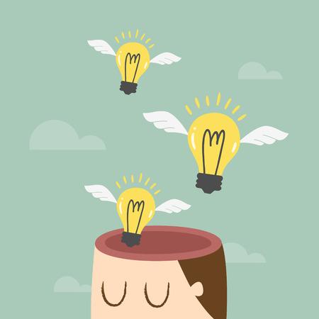 pensamiento creativo: La libertad de pensamiento, ideas concepto