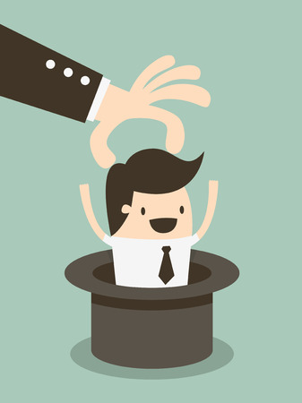 headhunter: Cappello magico dipendente, dirigente Risorse umane scegliere dipendente