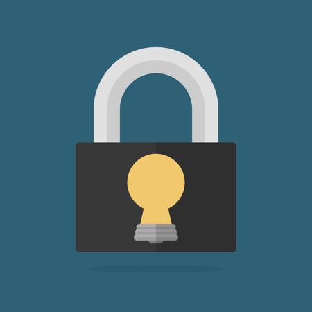 Lock with bulb shaped keyhole