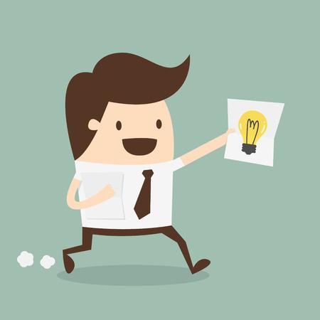 businessman showing he has an idea