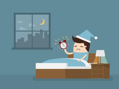 일찍 일어나 일러스트