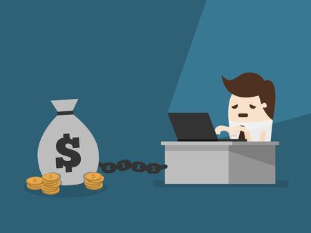 Geld-Slave Vektorgrafik