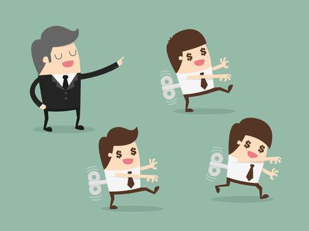 office automation: Mechanical businessman