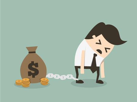 Geld slaaf Stock Illustratie