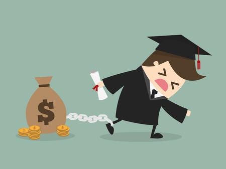 estudiantes: Estudiantes de la deuda Vectores
