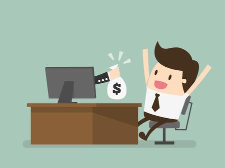 dinero: negocio en línea, eps 10 ilustración vectorial