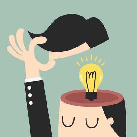 cerebro: Idea, eps 10 ilustración vectorial