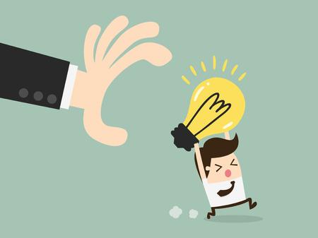steal brain: hand grabbing light bulb