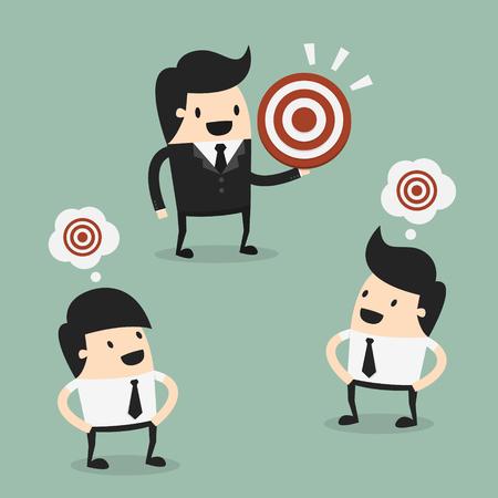 attitudes: Target, eps 10 vector illustration Illustration