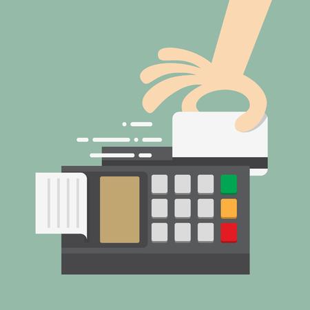 inserting: Swiping Credit Card Illustration