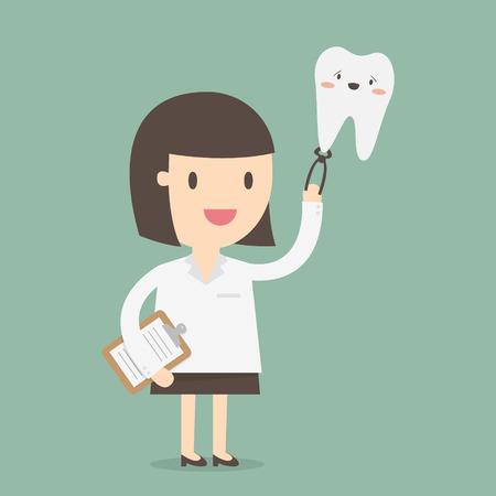 stubble: Female Dentist, vector illustration