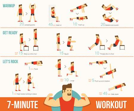 fitness workout: Workout, eps 10 vector illustration