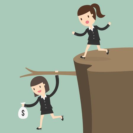 cliffs: Fiscal cliff, crisis concept