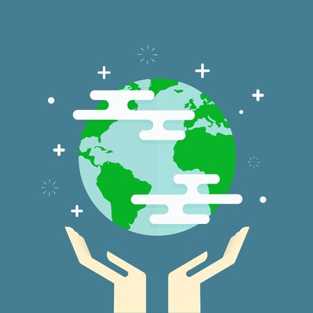 hands in: earth in hands - ecology concept