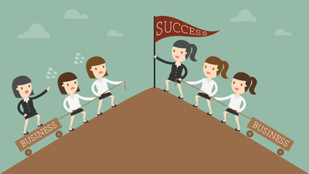Leadership concept illustration 일러스트