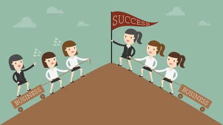 lider: Concepto de la dirección de la ilustración